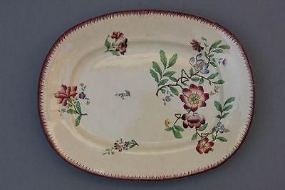 Platte mit Blumenmalerei, Saargemünd, um 1900