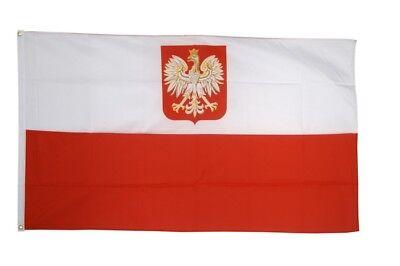 Fahne Polen mit Adler Flagge polnische Hissflagge 90x150cm