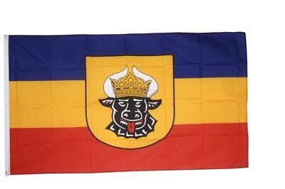 Fahne Flagge Deutschland Mecklenburg alt - 90 x 150 cm Hissflagge - Flagge Fahne