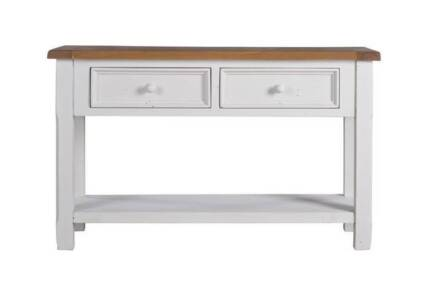 1825 Whitewash and Timber Console Table Dungog Dungog Area Preview