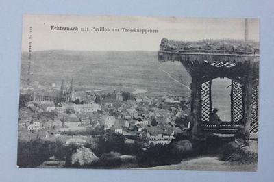 Luxemburg - Echternach - Mit Pavillon am Trosskneppchen,   AK um 1900
