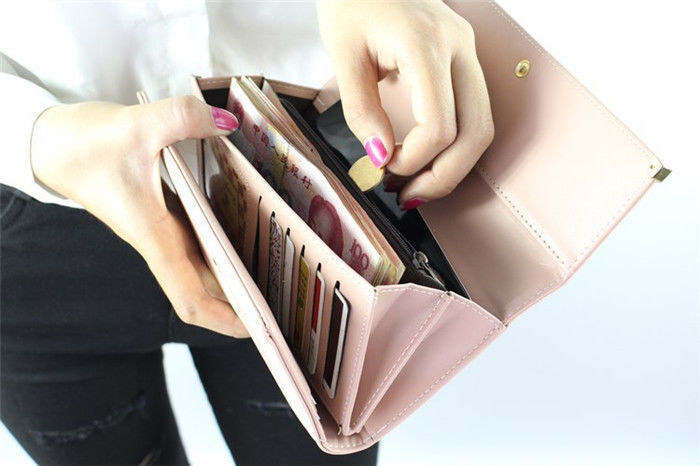 US Women Long Clutch Leather Wallet Card Holder Phone Bag Case Purse Handbags Clothing, Shoes & Accessories