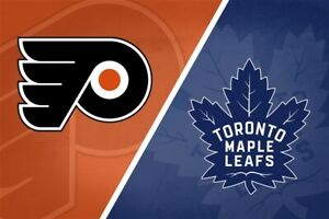 TORONTO  MAPLE LEAFS VS PHILIADELPHIA FLYERS FRI MAR 15TH ROW 2!