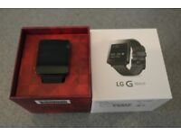 LG G Watch smartwatch. Boxed with charger and dock. Great condition. Barely used.