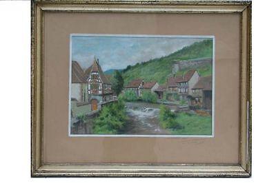 L.Bellet - Kayserberg /Elsaß/Alsace - Gouache