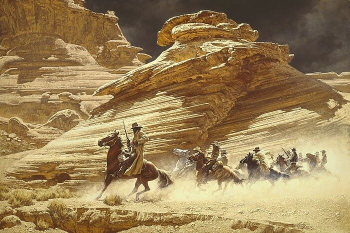 Quot Dust Stained Posse Quot Frank Mccarthy Western Art