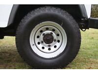 Landrover Defender 16' modular wheels with off road tyres and Range Rover 18' alloys with tyres