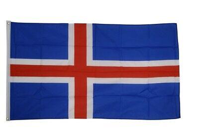 Fahne Island Flagge isländische Hissflagge 90x150cm