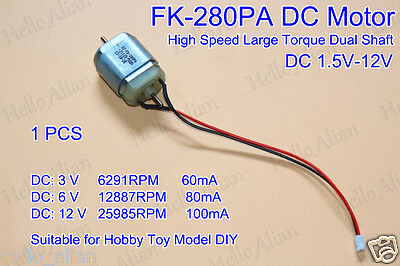 Dc 5v-12v 6v 9v High Speed Large Two Dual Shaft Dt-fk-280pa Motor For Hobby Toy