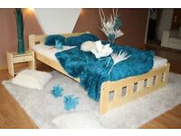 Double Bed Frame 4ft6 Solid Pine Wood - new, never used