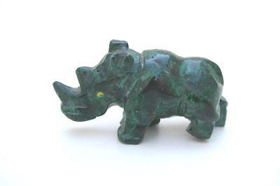 Nashorn aus Malachit
