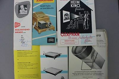 17 Prospekte, Diaprojektoren u.a., 1950er Jahre