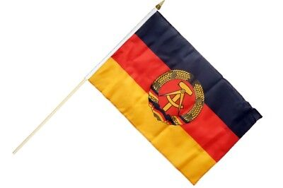 Gebraucht, Deutschland DDR Stockflagge Flaggen Fahnen Stockfahne 30x45cm gebraucht kaufen  Hagen