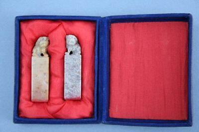 Chinesische Speckstein-Siegel mit Fo-Hund