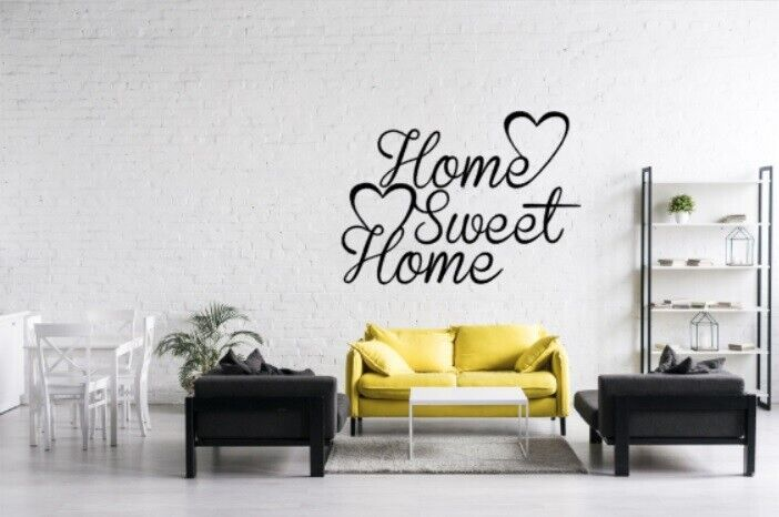 Home Decoration - Home Sweet Home Heart Family Quote Wall Stickers Art Room Removable Decals DIY