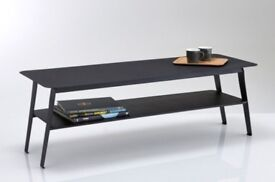 This stylish Two-Tier matt black Metal Coffee Table. £80 This is solid metal & is quite heavy.
