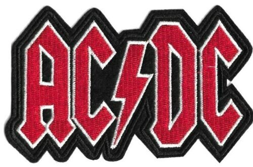 AC/DC Logo Patch Embroidered Iron or Sew On Patch ACDC Classic Rock Patches