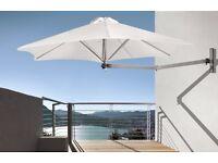 **BRAND NEW** Paraflex 2.7m Hexagonal Premium wall mounted parasol (Natural)
