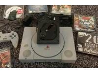 Ps1 console bundle with selection of games