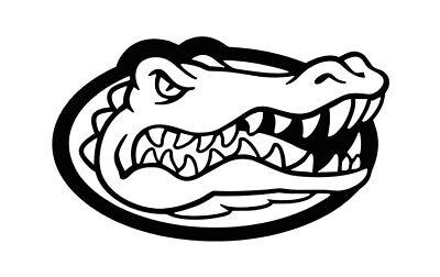Florida Gators Gator Head Logo Vinyl Decal , Car / Window Sticker  FREE