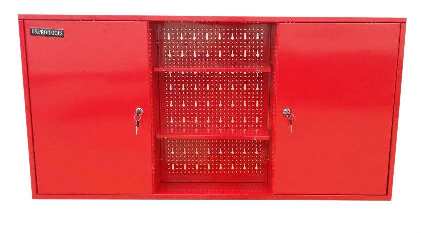 178 Us Pro Tools Red Steel Metal Garage Storage Cupboard