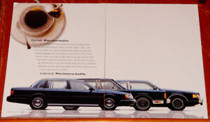 1988 LINCOLN CONTINENTAL TOWN CAR & MARK VII LSC AD / ANONCE
