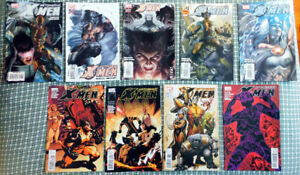 Astonishing X-Men comics #25, 26, 27, 28, 29, 36, 37, 38 and 39