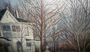 "Toronto Artist Roxann Vivian Smith ""The White House"" Watercolor Stratford Kitchener Area image 7"