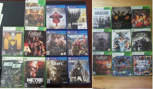 Xbox 360 + Ps4 Games for sale
