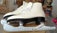 Ladies (Adult) Figure Skates by Bauer - Size 9 - White