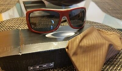 Oakley Sideways Sunglasses Brick Red/Grey good (Sideways Sunglasses)