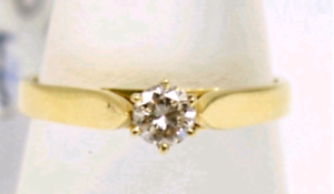 18ct Gold & .24CT Diamond Ring - Valued $1300 Stafford Heights Brisbane North West Preview