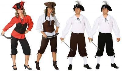 Kniebundhose Piraten Mittelalter Kostüm Rokoko Musketier Barock Damen - Herren Piraten Kostüm Hose