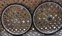 ROUES 700 Wheels (USA RIGIDA Rims + 2 NEW tires + Inner tubes)