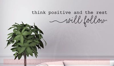 Think Positive Motivational Wall Quotes Vinyl Lettering Deca