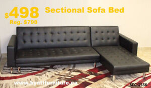 new PU Sectional Sofa Bed only $498 - We deliver in GTA