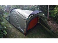 2 man tent: vango tempest 200 (£100+ new!)