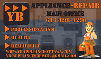 YB Ottawa Appliance Repair and Installation! Open Today!