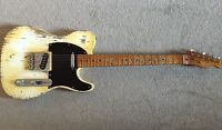 Faded Olympic white relic Telecaster