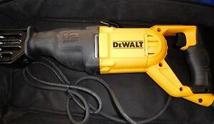 New! DeWalt 12 amp  Corded Reciprocating Saw (w/12 new blades)