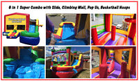 6 N 1 Super Combo Jumping Castle Bouncy Castle Rental Delivered