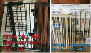 **NEW** Extra tall and wide baby gates