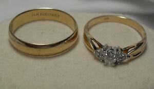 14kt yellow gold Wedding Ring Set  - Price $1350.00 - Size 9