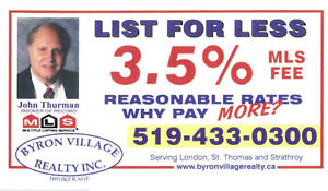 REASONABLE RATES 3.5 % MLS FULL SERVICE BROKERAGE