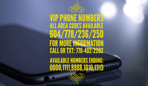 Fancy 604/778 High end lucky phone numbers