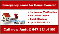 **Fast & Quick Approval 2nd Mortgage** Call now @ 647.821.4100