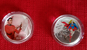 Silver coin  star trek and supergirl