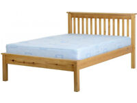 "Monaco 4ft 6 ""Antique Pine Bed Frame - New - £115"