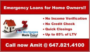 Second Mortgage*** Fast Approval*** Call now @ 647.821.4100
