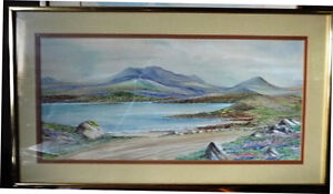 Irish Country Landscape, Donegal by R. Munn, Irish Artist 1970's